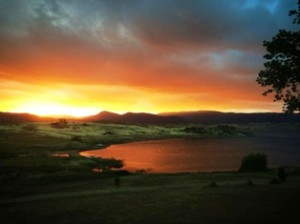 The Lakeside Bar & Restaurant boasts the best sunsets in the Snowy Mountains